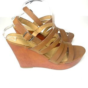 Lucky Brand Strappy Wedge Sandals Size 10